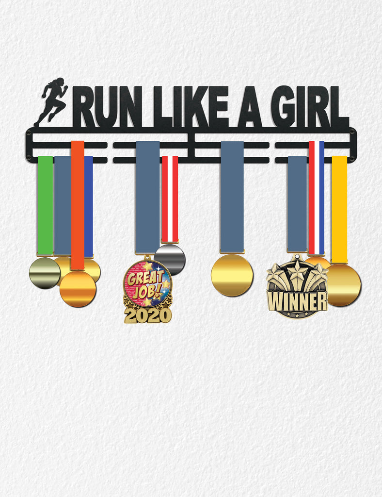 Medal Holder for Wall, Medal Award Holder Running Girl Gift Sports Gift for Teen Women, Runner Gift, Metal Medal Holders