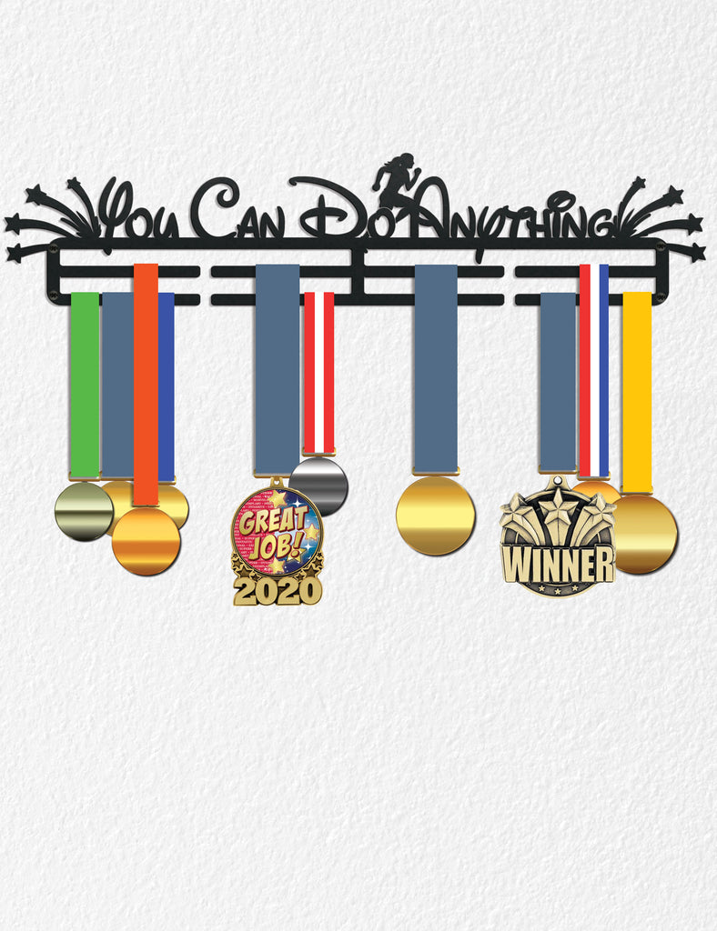 Medal Holder for Wall, Marathon Medal Award Holder, Runner Gift Sport Gift for Teen Women Gift Metal Medal Holders Princess Running