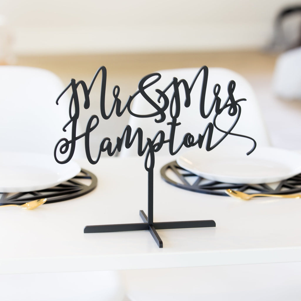 Mr & Mrs Wedding Name Centerpiece - Wedding Decor Gifts
