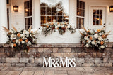 Mr and Mrs Wedding Sign for Prop or Sweetheart Table Decor