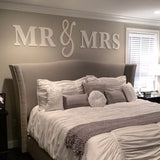 Mr & Mrs Wall Signs QUEEN SIZE - Wedding Decor Gifts