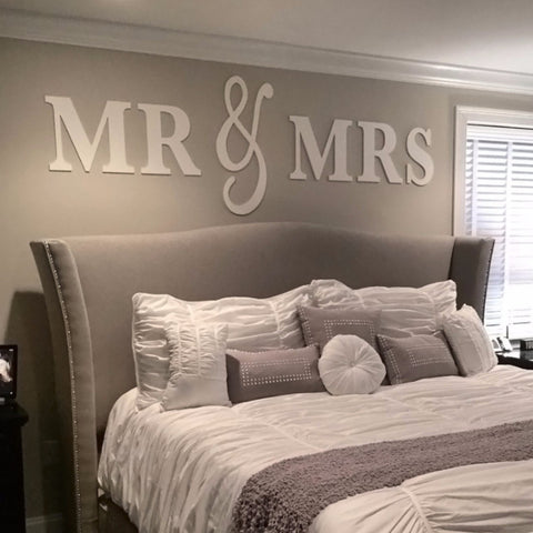 Mr & Mrs Wall Signs KING SIZE - Wedding Decor Gifts