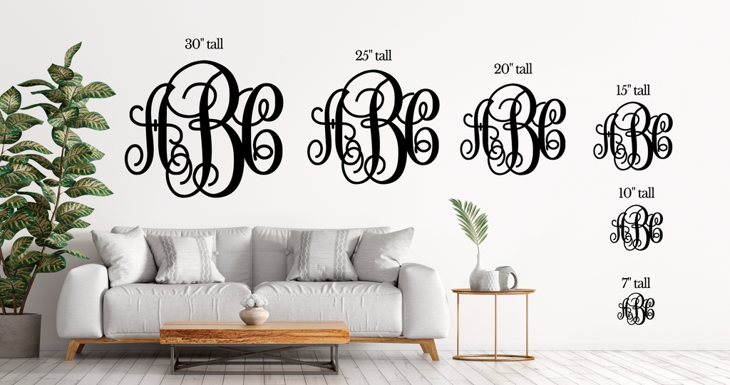 Monogram Decor for Wall, Home Decor Monogram Sign Hanging Letters Gift for Couples Monogram Letters Cutout for Wall Gift