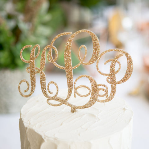 wedding cake monogram topper monogram cake topper z create design 23276