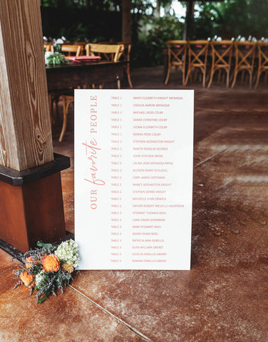 Seating Chart for Wedding Signs on Acrylic, Modern Simple Small Wedding Escort Seating Chart Decoration, Intimate Wedding
