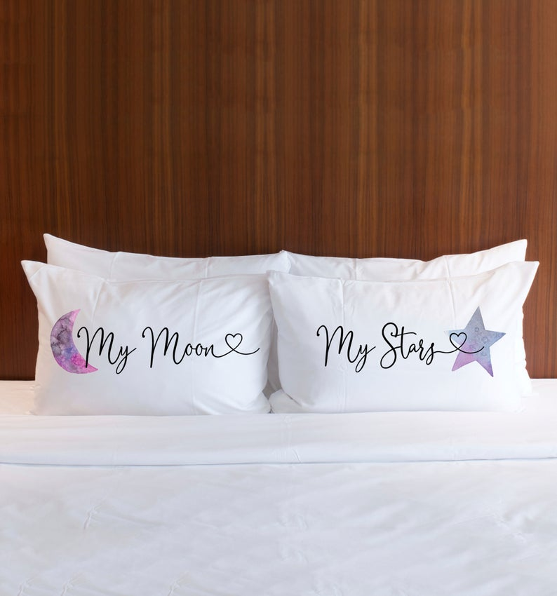My Moon and My Stars Pillow Cases - Wedding Decor Gifts