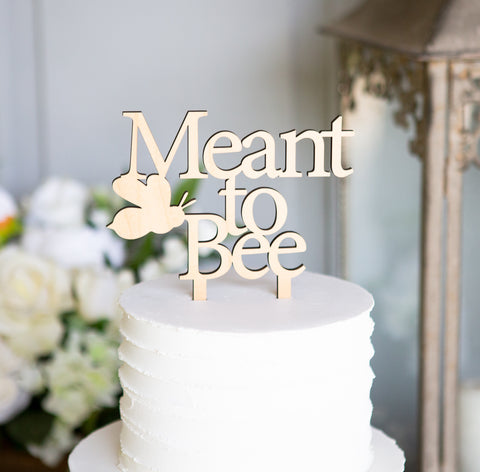 Meant to Bee Wedding Cake Topper
