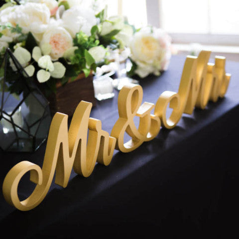 Mr & Mrs Wedding Signs - Wedding Decor Gifts