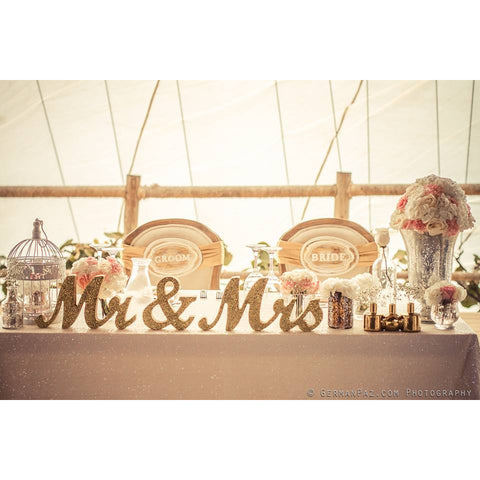 #1 Mr and Mrs Signs for Wedding Table Decor Z Create Design