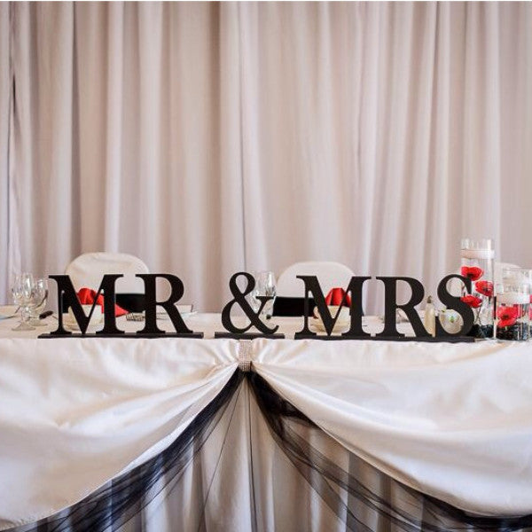 Mr and Mrs Sign for Wedding - Wedding Decor Gifts