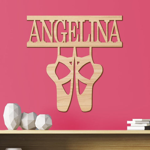 Ballet Kids Room Sign, Nursery Decor, Personalized Wood Sign