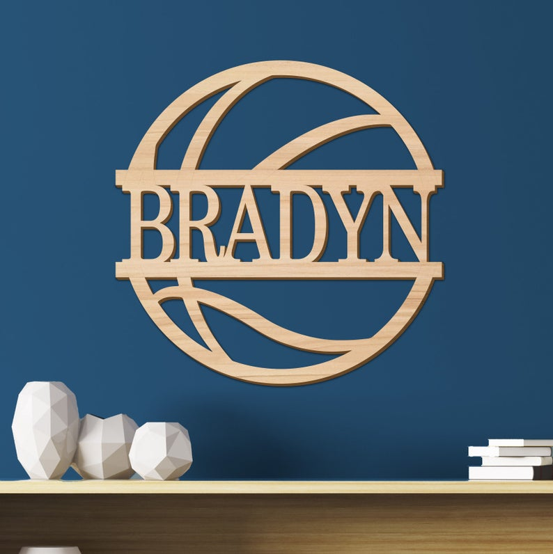 Basketball Kids Room Sign, Nursery Decor, Personalized Wood Sign