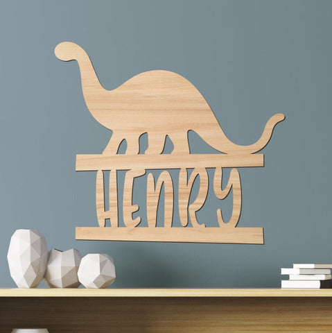 Name Sign, Dinosaur Kids Room Sign, Dino Room Gift Decor