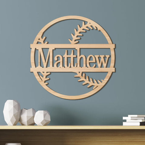 Baseball Kids Room Sign, Nursery Decor, Personalized Wood Sign