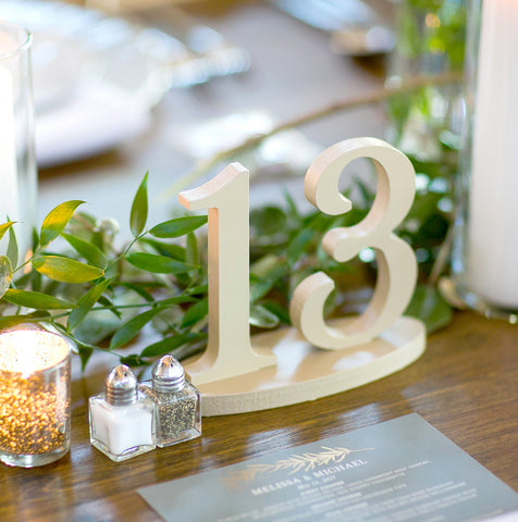 Wedding Table Numbers on Bases