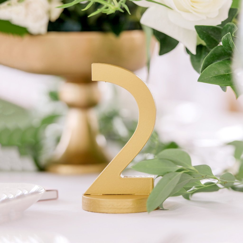 Art Deco Table Numbers on Bases - Wedding Decor Gifts