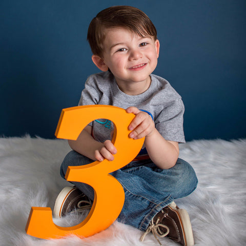 3 Sign Children's Photo Prop for 3rd Birthday - Wedding Decor Gifts