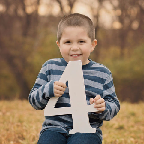 4 Sign Wooden Number Children's Photo Prop Four - Wedding Decor Gifts