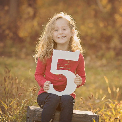 5 Sign Wooden Number Children's Photo Prop Five - Wedding and Gifts