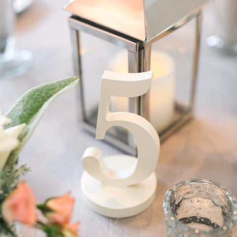 Painted Wedding Table Numbers - Wedding Decor Gifts