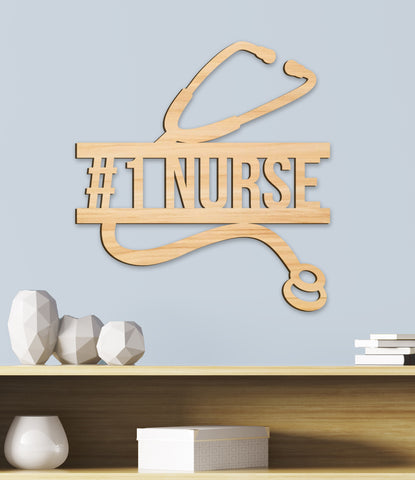 Nurse Gift, Doctor and Nurse Name Sign, Wooden Name Sign, Personalized Wood Sign, Wooden Name Sign, Medical Professional Gift