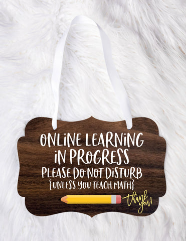 Home School Door Sign, Online Virtual School Door Sign for Home, Homeschool Do Not Disturb Sign for Door Indoor or Outdoor Kids