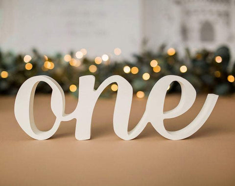 Standing One Sign Photo Prop - Wedding Decor Gifts