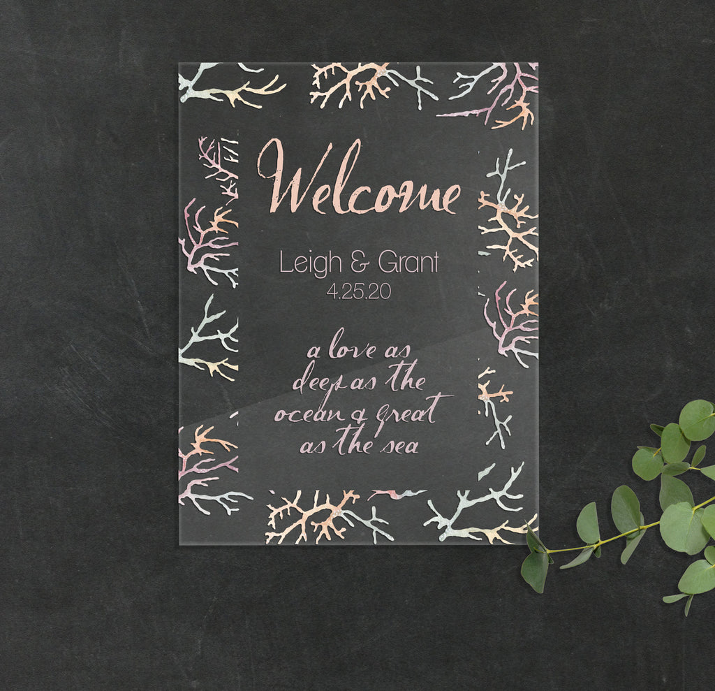 Ocean Wedding Welcome Sign - Wedding Decor Gifts