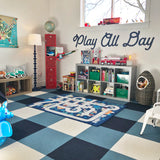 "Playroom Wall Sign, Kids Bedroom Artwork ""Play All Day"" - Wedding Decor Gifts"