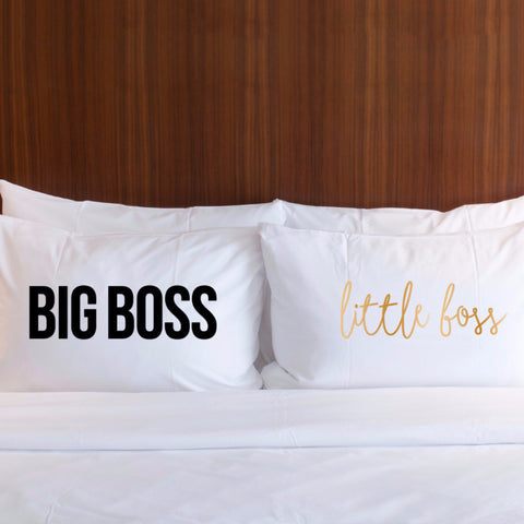 Big Boss, Little Boss Pillowcase Set - Wedding and Gifts