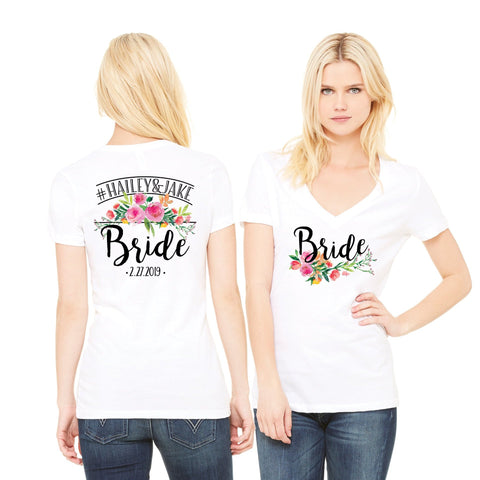 Personalized Bride Shirt - Wedding Decor Gifts