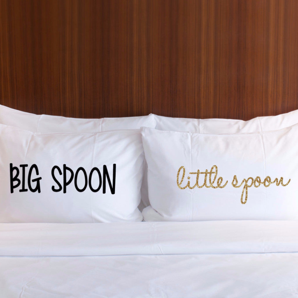 Big Spoon Little Spoon Pillowcases - Wedding Decor Gifts