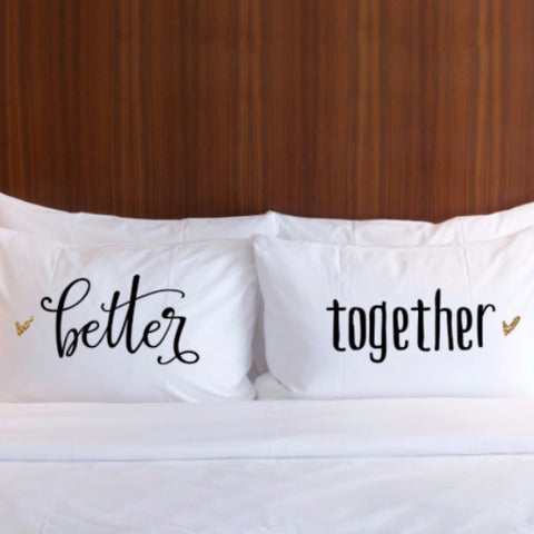 Better Together Pillowcases Gift Set - Wedding Decor Gifts