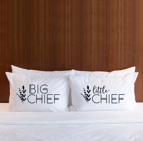 Big Chief Little Chief Boho Pillowcases - Wedding Decor Gifts