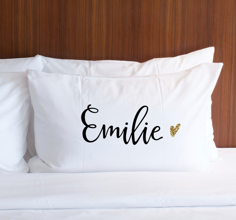 Pillowcase Personalized Name Pillow Gift - Wedding Decor Gifts