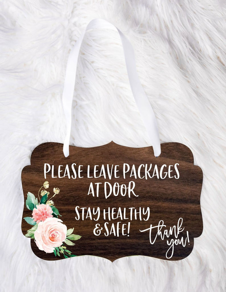Package Delivery Sign, Doorbell Sign, Front Door Sign - Wedding Decor Gifts
