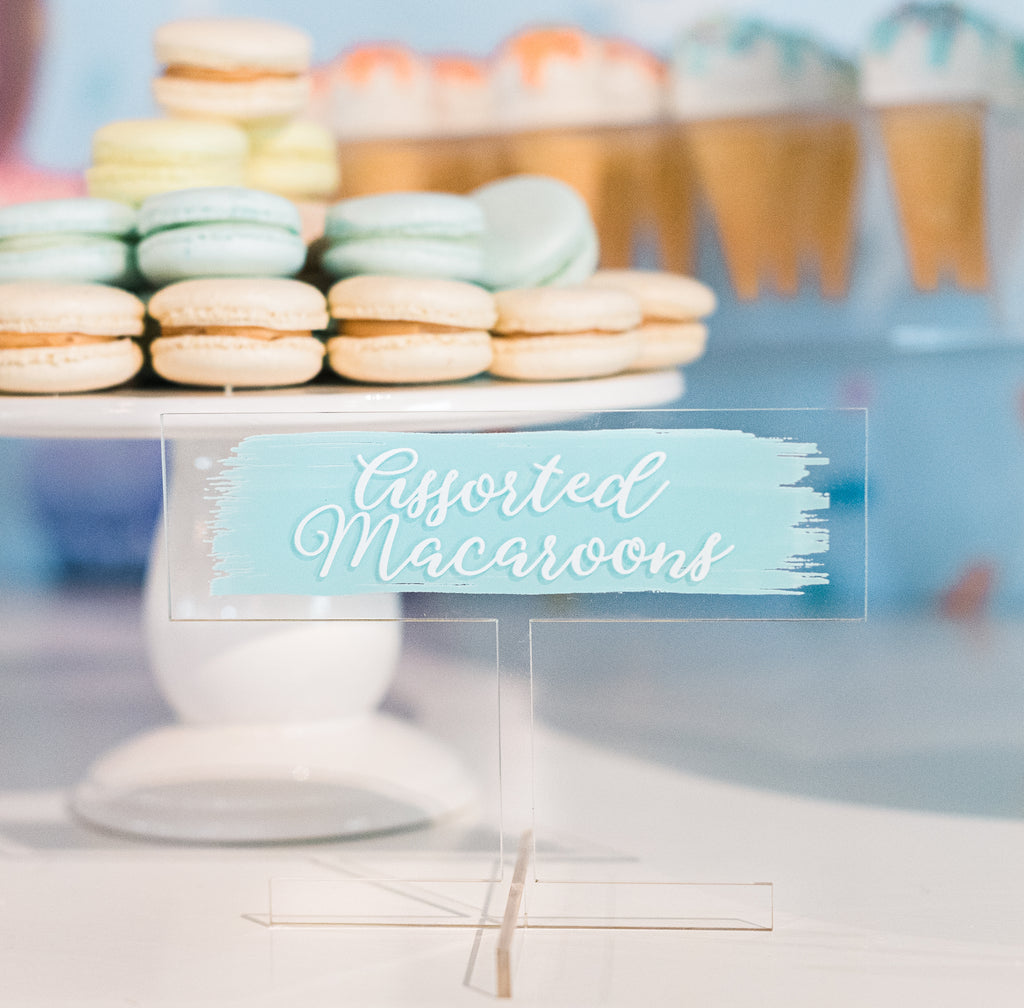 Food Name Signs/ Buffet Labels - Wedding Decor Gifts