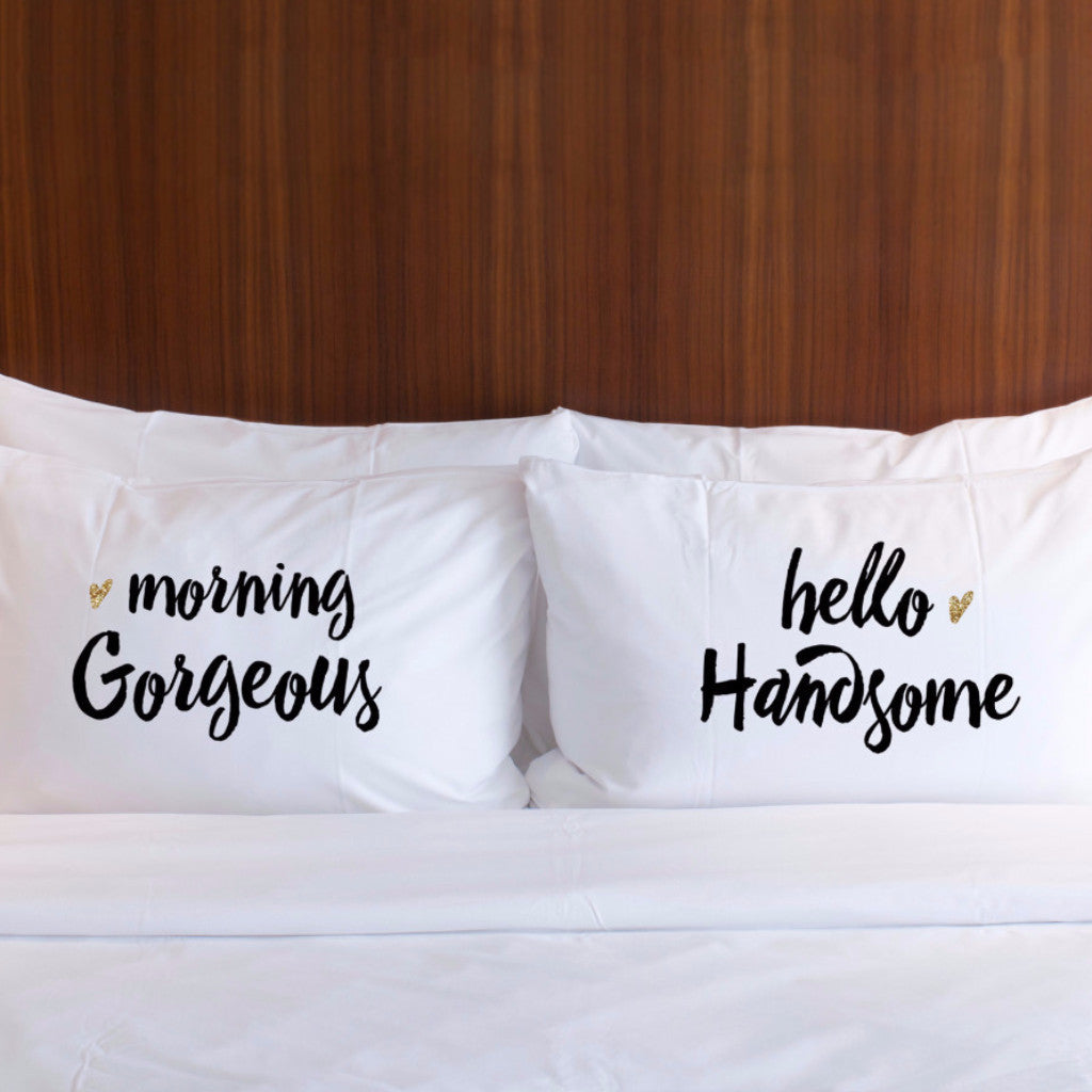 Good Morning Pillowcases Gift Set - Wedding Decor Gifts