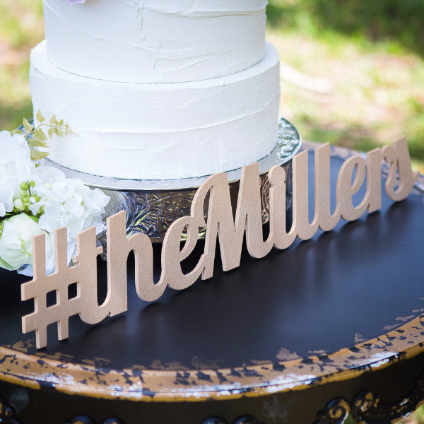 Personalized Hashtag Sign - Wedding Decor Gifts
