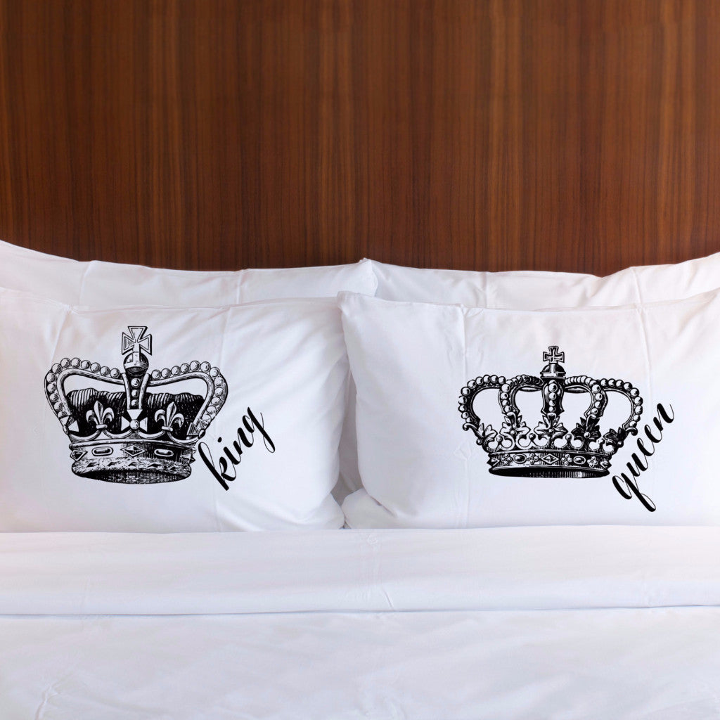 King Queen Pillowcases Gift For Couples Z Create Design