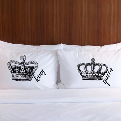 King & Queen Pillowcases Gift for Couples - Wedding Decor Gifts