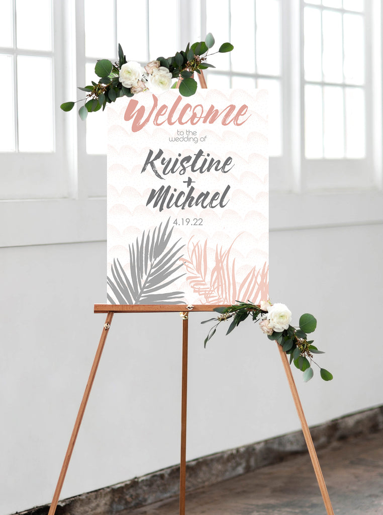 Palm Wedding Welcome Sign - Wedding Decor Gifts