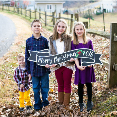 Merry Christmas Sign & Photo Prop - Wedding Decor Gifts