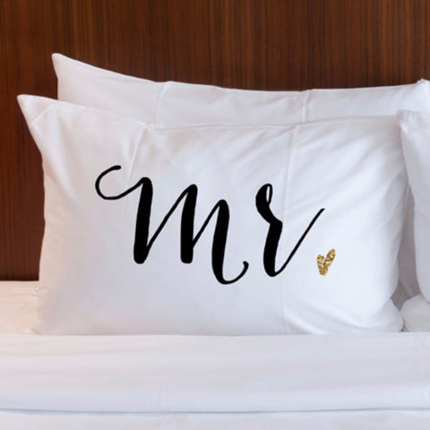 """Mr"" or ""Mrs"" Pillowcase - Wedding and Gifts"