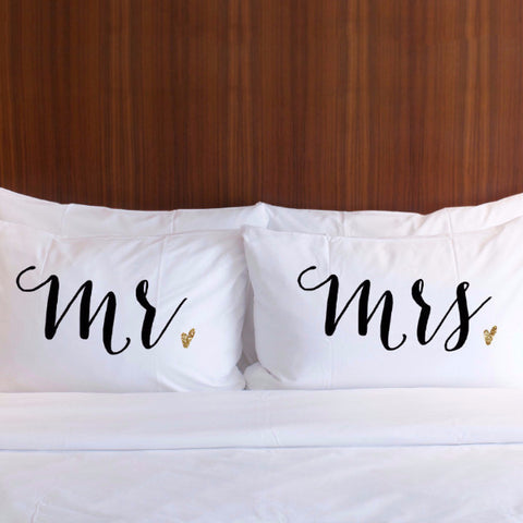 Mr & Mrs Darling Pair Pillowcases Gift Set - Wedding Decor Gifts