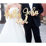 Large Name Signs Prop Set (3-Piece) - Wedding Decor Gifts