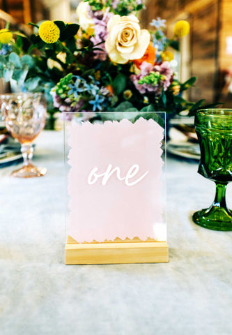 Acrylic Table Numbers for Wedding Table - Wedding Decor Gifts