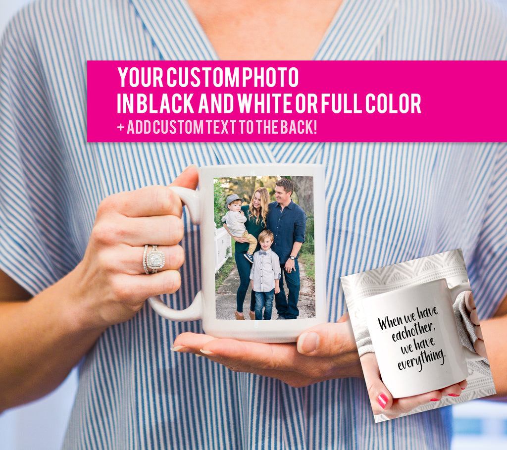 Coffee Mug with Custom Photo, Gift for Christmas, Cute Coffee Mug, Gift for Family, Custom Mug for Coffee or Tea