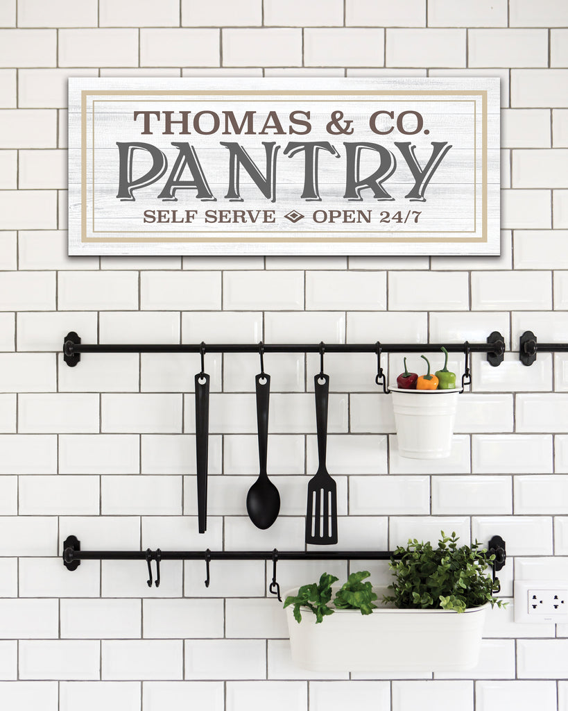 Personalized Pantry Sign, Kitchen Decor