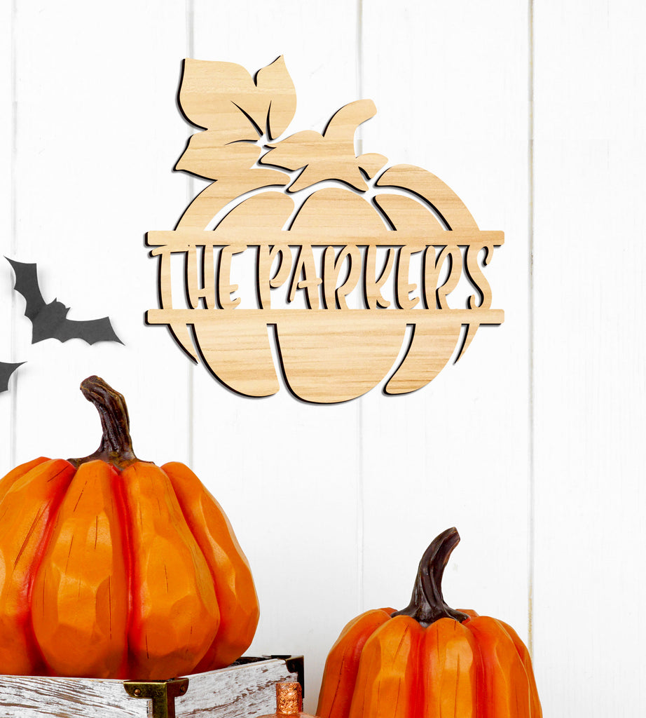 Pumpkin Name Sign, Personalized Name, Fall or Halloween Decor